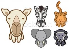 Stockfoto - vector · cartoon · dierentuin · dieren · objecten · kleuren (vector illustratie) © Bytedust (#348555) | Stockfresh