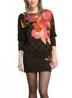 DESIGUAL Dress STEVENSI chocolate - 84,00€ : Fashion Monicapecado