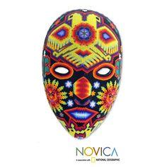 Novica Handcrafted Beadwork 'Huichol Vision' Wall Cross