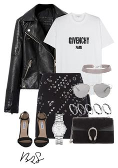 """""""#755"""" by blendingtwostyles ❤ liked on Polyvore featuring Givenchy, Thierry Mugler, Gucci, Marc by Marc Jacobs, Steve Madden, Christian Dior and ASOS"""
