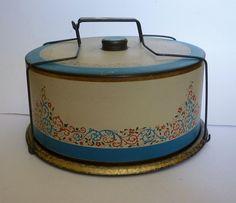 tins vintage cake
