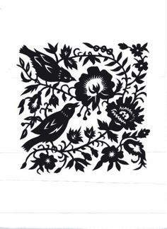 We are retailers of the largest variety of scissors & knife cutting patterns and supplies for silhouettes & Americana, scrapbooks and more! Chinese Paper Cutting, Polish Folk Art, Origami, Bird Design, Leaf Design, Paper Animals, Paper Birds, Sketchbook Inspiration, Silhouette Cameo Projects