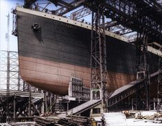 Construction of the ships bow - The Titanic