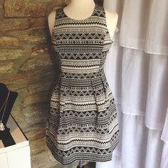 Tribal dress... with tights and heels for winter?