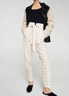 Check pants - Women | MANGO USA