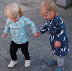Free sewing pattern. Shirt, dress. Fons & Sien. Baby, toddler. Gratis naaipatroon. Trui, t-shirt, jurkje.