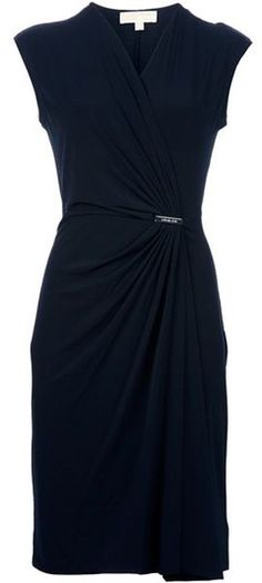 Michael By Michael Kors Fitted Dress in Black