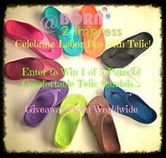Win 1 of 5 pairs of comfortable Telic sandals- Open WORLDWIDE