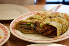 chinese pancake with beef