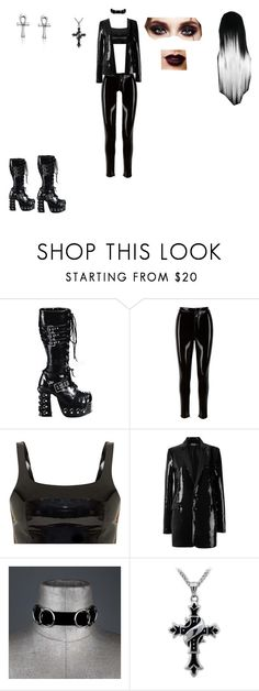 """goth outfit"" by helena94-1 on Polyvore featuring Demonia, Bling Jewelry, polyvoreeditorial and polyvorefashion"