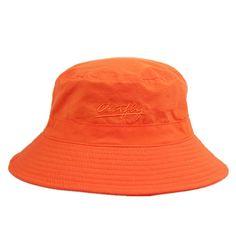 d4bfe1e8 Unisex Mens Womens Daily Summer Hat Plain Sun Protection Bucket Hat -  Orange - CD12CSI0H9H