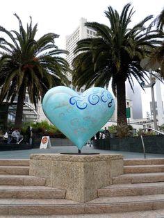 Blue swirls heart