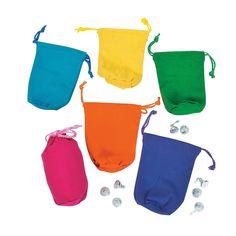 Bright Color Drawstring Bags - OrientalTrading.com