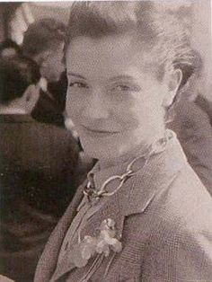 A pic of Germaine Cellier, maverick woman perfumer in an industry dominated by men. Composed Vent Vert, Jolie Madame (which I despise), Bandit (green leather chypre--fearsome), Fracas, and others. I love her confident smirk.