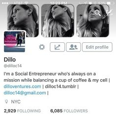 Are you on #twitter ? If so #comevisitme and if #youlikewhatyousee #followme and I will #followback #entrepreneurssupporteachother #socialmedia #socialmediamarketing #socialentrepreneurship #socialmediasupport #entrepreneurship #loyalty #entrepreneurscode by dillo_ventures