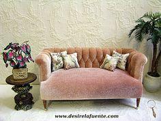 1:12 scale velvet sofa.