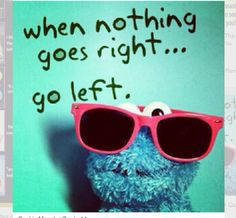 think differently. thanks, cookie monster!