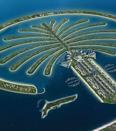 Dubai: an Isla artificial. Its amazing how we can just build islands!! Well this is a country...
