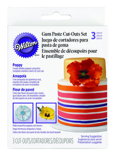 Petal paste cutter range from Wilton Wilton, Cake Accessories, Bakery Supplies, Parts Of A Flower, Gum Paste, Poppies, Sewing Crafts, How To Make, Cut Outs