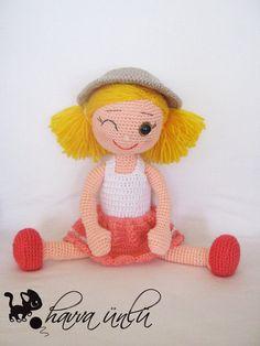 amigurumi pattern doll zeynep doll by HavvaDesigns on Etsy, $7.90