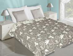 Obojstranný prehoz na posteľ krémovo fialový s listami - My site Hotel Bed, Bedding Sets, Comforters, Luxury, Furniture, Design, Home Decor, Blankets, Beautiful