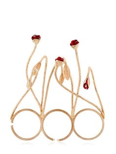 FUTURO REMOTO GIOIELLI - BLOOMS THREE FINGER RING - RINGS - ROSE GOLD - LUISAVIAROMA