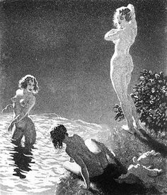 Etching by Norman Lindsay, Australian artist and radical early century anti-moralist. Sirens (starring Hugh Grant, Sam Neil, Portia de Rossi, Elle McPherson) is a film depiction of the life of this brilliant and fascinating man. Norman Lindsay, Vintage Artwork, Australian Artists, Oeuvre D'art, Erotic Art, Figurative Art, Fantasy Art, Illustration Art, Fine Art