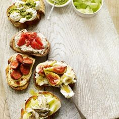 These quick and effortless bruschetta recipes will add some delicious variety to your party appetizers. A guaranteed crowd pleaser.