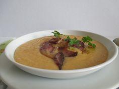Gyorsan elkészülő főzelék, nem kell előkészítened szinte semmit - füstölt hússal a legfinomabb Cheeseburger Chowder, Thai Red Curry, Soup, Ethnic Recipes, Soups