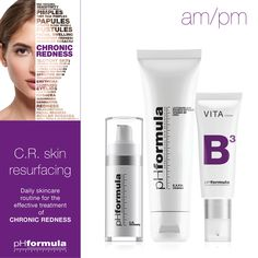 Restore and rebuild your skin with the C.R. skin resurfacing daily skincare regimen. An effective treatment for chronic inflammation. #pHformula #skinresurfacing #artofskinresurfacing #chronicredness #skinhealth #homecare #autumnskin