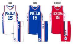Philadelphia 76ers unveil new uniforms 8be14cebb