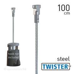 Artiteq Twister 2mm Steel 100cm – 500cm