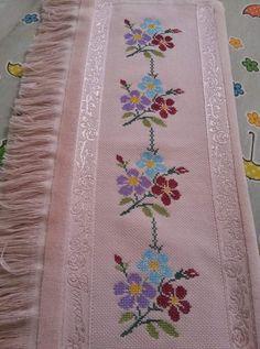 Etamin işlemeli havlu kenarları ve şemaları (24) - Canım Anne