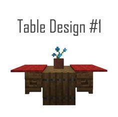 Minecraft Log Table Design - Minecraft World Minecraft Banner Designs, Minecraft Interior Design, Minecraft Banners, Minecraft House Tutorials, Minecraft House Designs, Minecraft Decorations, Minecraft Tutorial, Minecraft Architecture, Minecraft World