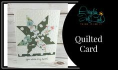 Quilted Card.   From Angela Carter, Independent Demo from Stampin Up and Angela's Ink Link http://www.angelasinklink.com