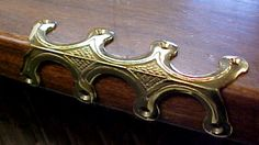 Brass corner guard intended for steamer trunks, but would look striking on cabinetry as well.