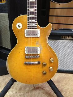 The original 1959 Gibson Les Paul Standard owned first by Peter Green who used it throughout his career with the original Fleetwood Mac before passing it on to Gary Moore who played it throughout the 1970's.