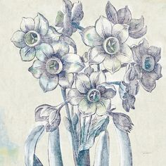 """Lark Manor Belle Fleur IV Graphic Art on Wrapped Canvas Size: 37"""" H x 37"""" W x 1.5"""" D"""