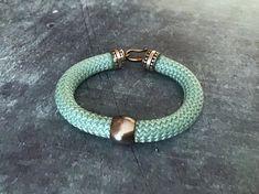 Ethnic rope turquoise rigid bracelet. #rigidbracelet #ropebracelet #ethnicbracelet #braccialecorda #braccialeetnico #braccialerigido