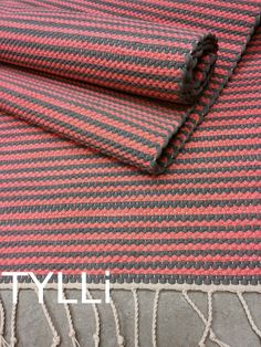 TYLLi: matto Rag Rugs, Tear, Scandinavian Style, Pattern Design, Weaving, Textiles, Knitting, Handmade, Crafts