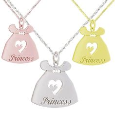 SN2- Ασημένιο κολιέ με φορεματάκι Princess Dog Tags, Dog Tag Necklace, Jewelry, Jewlery, Bijoux, Jewerly, Jewelery, Jewels, Accessories