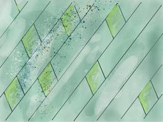 Wallpaper green diamonds splash