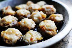French Onion Soup stuffed mushroom