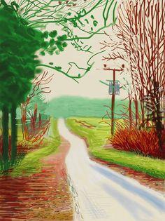 David Hockney, The Arrival of Spring In Woldgate, East Yorkshire, in 2011- 23 February 2011 on ArtStack #david-hockney #art