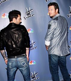 Adam Levine & Blake Shelton-Two of the sexiest backsides ever!