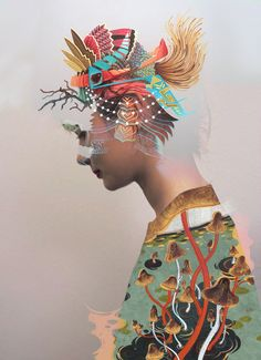 "matt wisniewski ""untitiled"" | viageneticoath:oats art on her head credit: curiot"