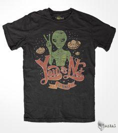 Not Alone  Peace  Alien t-shirt  Alien shirt  Alien T by 5AREA1