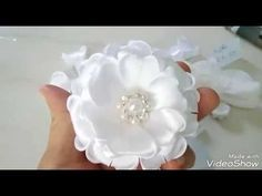 Flor de cetim RN(Colada)Fita N 5/22mm|Elessandra Monteiro Lelê Baby DIY V:46 - YouTube