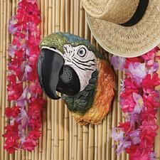 ©Paradise Parrot Head Wall Sculpture