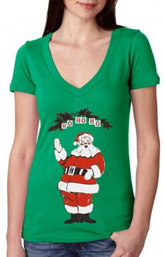 Humbug Green Womens Ladies T Shirt Christmas Funny Santa Hat Gift Tee T Shirt